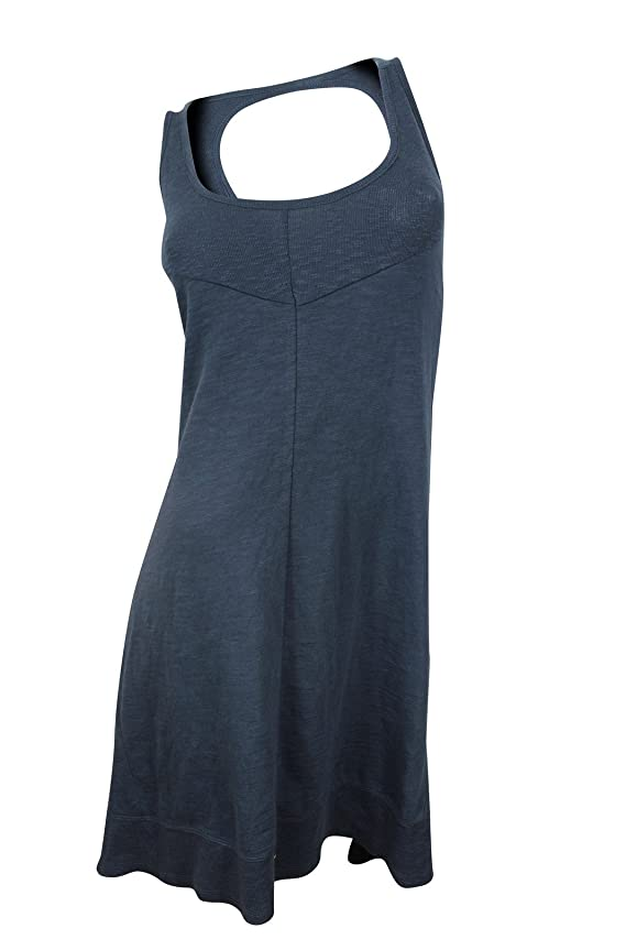 DKNY Women's Blue Cut-Off Back Tee Dress