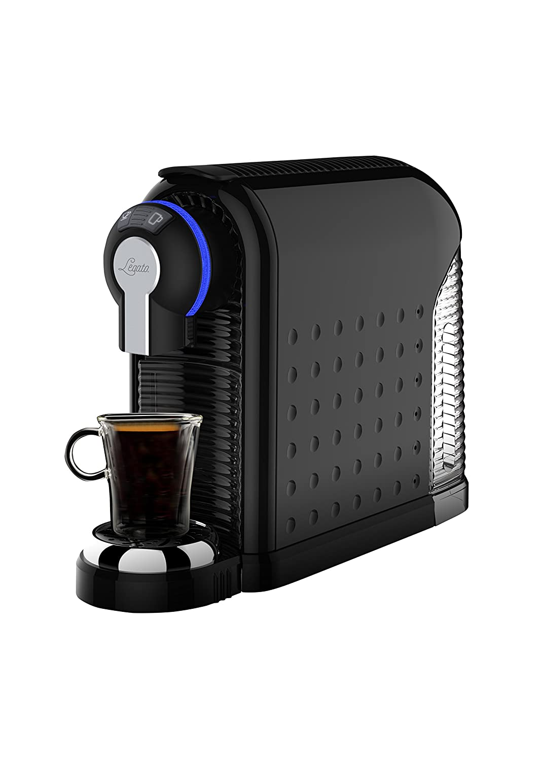 Legato Single Serve 6 oz Coffee & 1.5 oz Espresso Machine + 90 Free Capsules