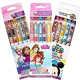Scentco Disney Colored Smencil Bundle - Scented Colored Pencils - Frozen, Princess, Tsum Tsum - 15 Ct