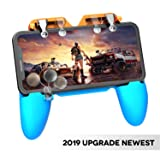 AnoKe Mobile Game Controller - Mobile Triggers, Cellphone Game Trigger, Battle Royale Sensitive Shoot and Aim Gift for Kids Mobile Phone Joystick for iOS Android - Blue & Orange red (Color: W19 Controller)