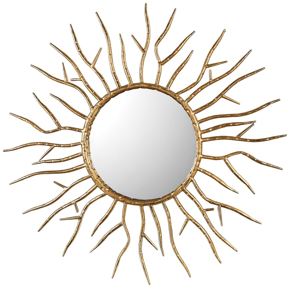 "Uttermost 09187 Astor - 28"" Starburst Mirror, Antiqued Gold Leaf Finish"