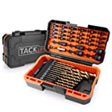 50Pcs Drill Bits Set, DNS01 20 Titanium Drill Bits Set, 24 Screwdriver Bits, 5 Nut Drivers with Strong Magnetism for All Brands High Torque Drills, with Patented Solid Case (Color: Orange&Black, Tamaño: DNS01)