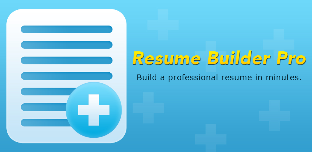 resume builder pro appstore for android