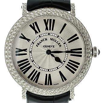 Franck Muller STL Ronde Women's Watch 8038 QZ D Black Alligator Strap
