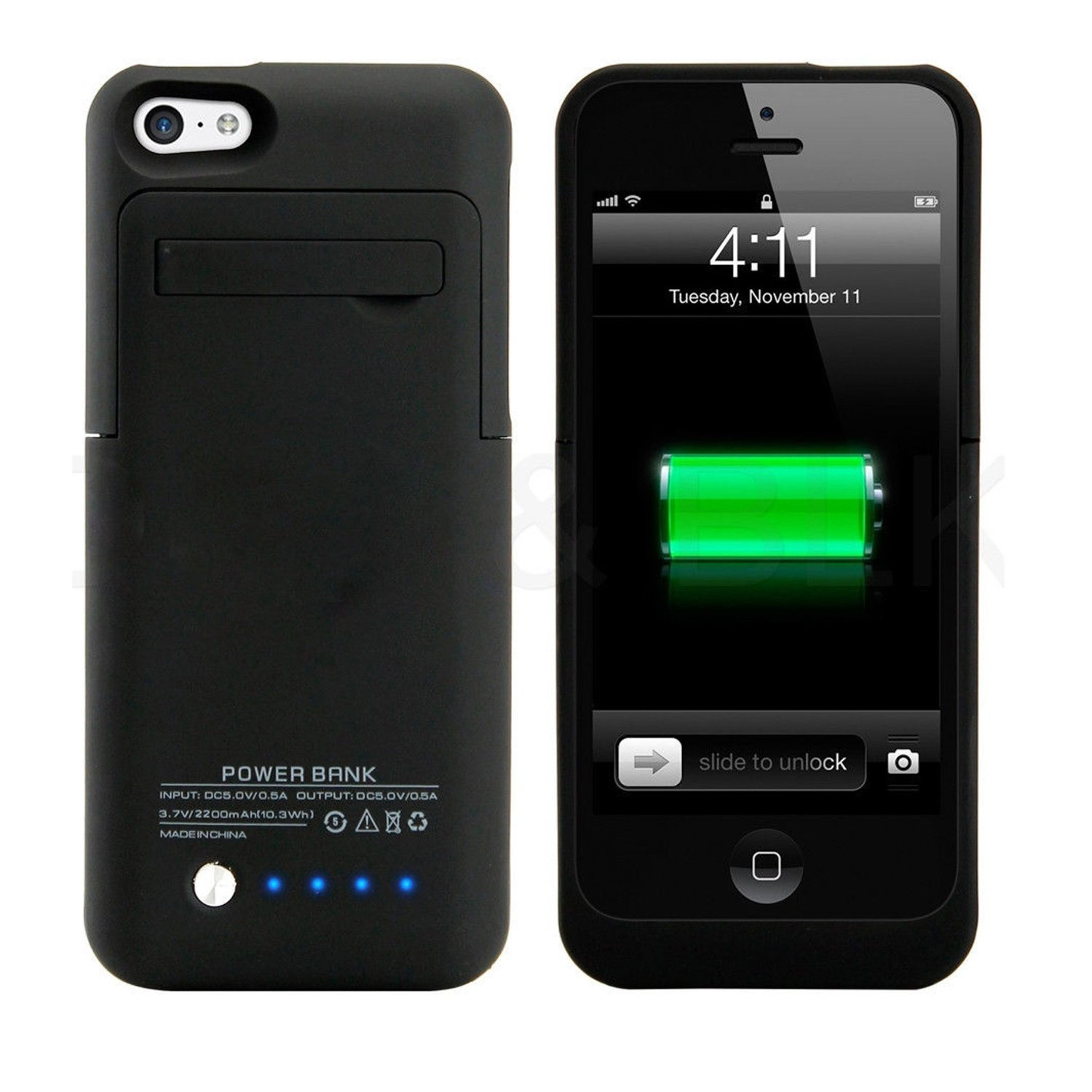 new iphone 5 5c 5s battery case 2200mah extended protective great charger pack ebay. Black Bedroom Furniture Sets. Home Design Ideas