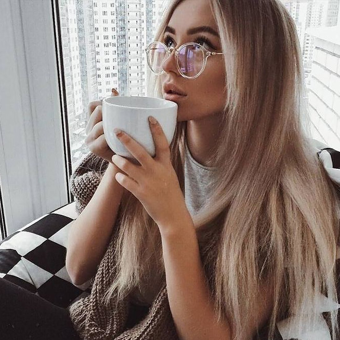 TIJN Vintage Round Prescription Eyewear Eyeglasses Frame with Clear Lenses for Women 3