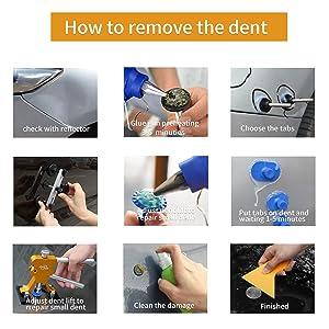 Fly5D 44pcs Auto Car Body Paintless Dent Repair Removal Tools Kit Dent Lifter Pop Out a Dent Bridge Puller Set for Car Dent Hail Damage Door Dings Repair