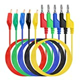 Sumnacon Multimeter Test Lead Set - Stackable Banana Plug to Alligator Clips Test Cable Kit with Protective, Soft Silicone Flexible Electrical Test Wire Leads for Electrical Testing 500V/5A (Color: Type 2)