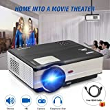 HD Movie Projector 1080p Outdoor Indoor 3500 Lumens, 200