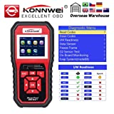 DAVITU US Warehouse Code Readers & Scan Tools - KW850 Full OBD2 Function Multilingual Auto Diagnostic Tool OBD II Engine Fault Code Reader as AL519 NT301 car Scanner (Color: Ships from United States)