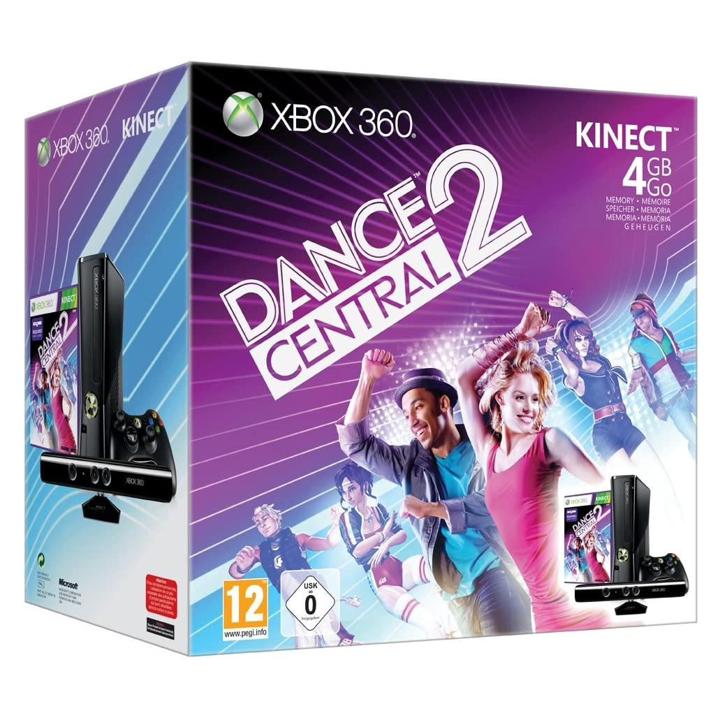 Console Xbox 360 4 Go + capteur Kinect + Kinect adventures ! + Dance Central 2