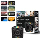 Cop Spy Cam As Seen On TV Mini Camera Wireless Hidden,ehomful 1080P Body Camera Action Camera, Convert Security Nanny Cam with Night Vision and Motion Activated for Home,Car,Office Indoor and Outdoor (Color: Black)