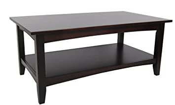 Alaterre Shaker Cottage Coffee Table, Espresso