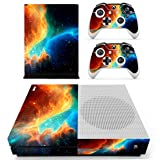 eSeeking Whole Body Vinyl Skin Sticker Decal Cover for Microsoft Xbox One Slim Console Cosmic Nebular