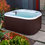 LifeSmart 400DX 5-Person Rock Solid Plug and Play Spa with 19 Jets Plus Bonus Waterfall Jet and Free Super Energy Saving Value Package (Color: Arctic White Shell, Tamaño: 5-Person)