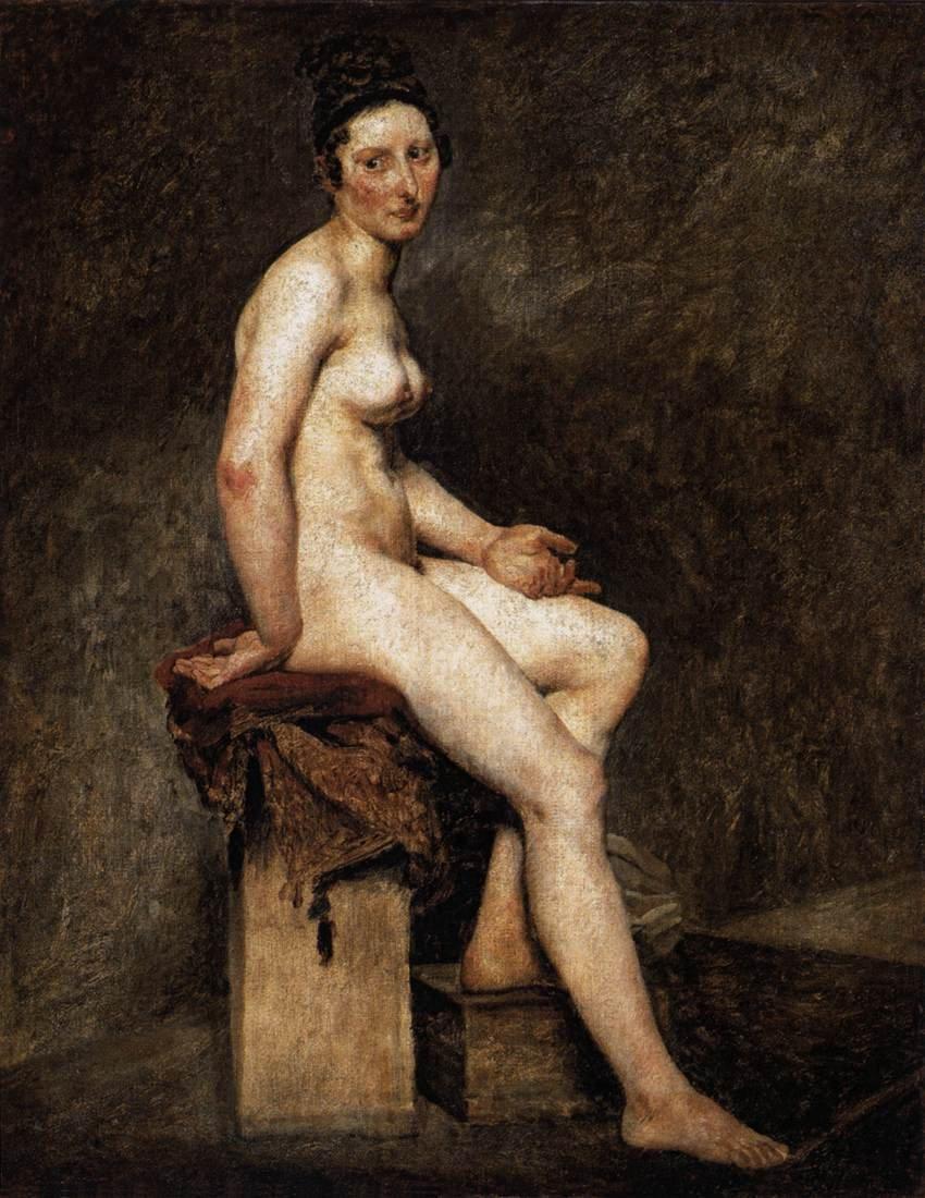 eugene delacroix com seated nude