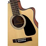 Fender Beginner Acoustic-Electric Guitar CF-60CE - Natural - Folk - With Hardshell Case (Color: Natural)