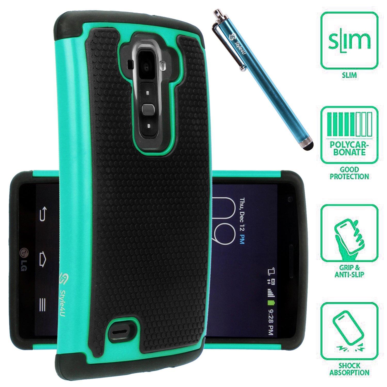 Style4U-Dual-Layer-Hybrid-Armor-LG-G-Flex-2-Phone-Case-w-Stylus-ONLY-FITS-FLEX2