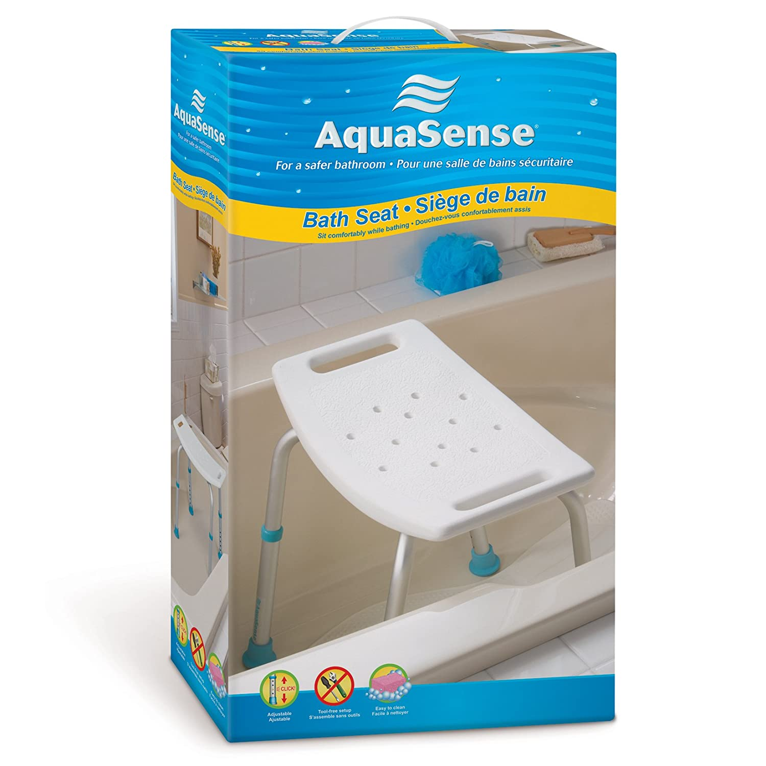 aquasense adjustable bath and shower chair with non slip aquasense adjustable bath and shower chair with non slip