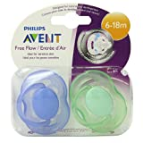 Philips Avent BPA Free Freeflow Pacifier, 6-18 Months Color May Vary 2 ea (Color: Colors May Vary, Tamaño: 6-18 Months)