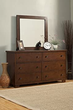 Alpine Furniture American Lifestyle Durango 6 Drawer Dresser, Brown
