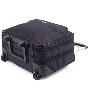 Alpine Swiss Rolling Briefcase on Wheels Roller 17 Laptop Case W Tablet Sleeve (Color: Black, Tamaño: One Size)