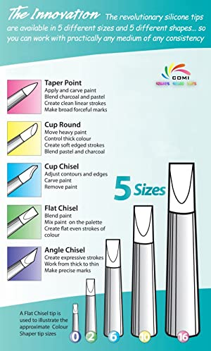 COMIART Clay Sculpture Tools Silicon Color Shapers Painting Brushes Size 6 (Color: Gray Brush Point, Tamaño: size6)