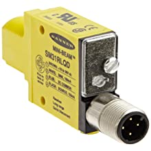 Banner SM31RLQD Mini Beam DC Photoelectric Sensor, Opposed Receiver Mode, 4-Pin European QD Termination, 30m Sensing Range