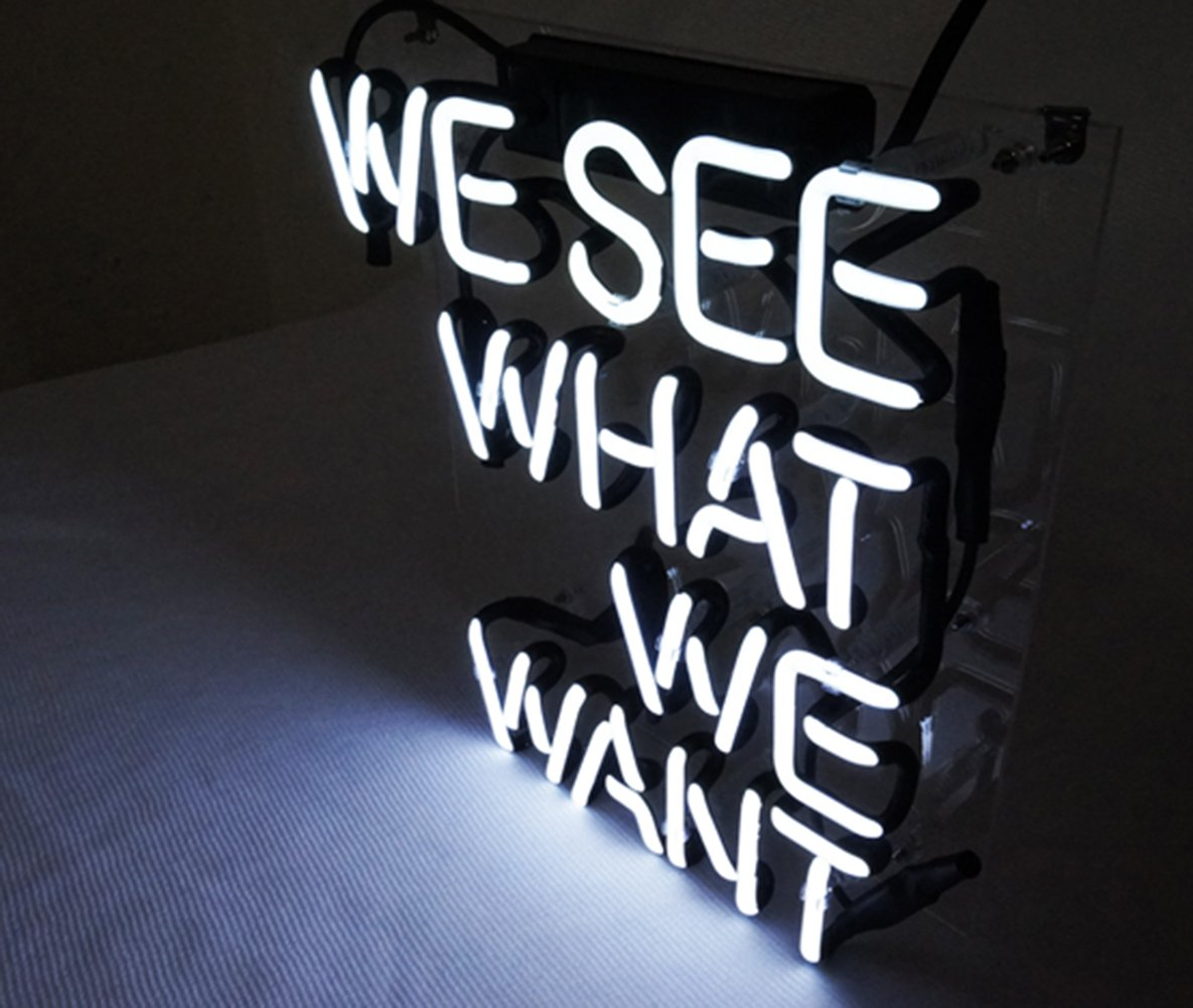 Cool Neon Sign Bedroom Beer Bar 'We See What We Want' Led Lamp Light 9.8