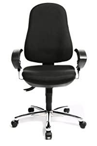 Topstar 8559UG20E Support SY Comfortable Home and Office Intervertebral Discs Swivel Chair   Black       Office ProductsCustomer review