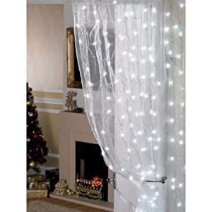 Icicle Curtain Lights, 8 Modes, 306 LED Cutest Fairy String Lights Indoor Outdoor Wall Background Decorative Lights for Wedding/Festival/Party/Garden/Home Christmas Decorations (Cool white) (Color: Cool White)