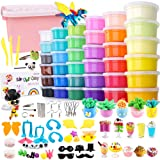 Holicolor 36 Colors Air Dry Clay Kit Magic Modeling Clay Ultra-Light Clay with Accessories, Tools and Tutorials for Kids DIY Crafts (Color: multicolored)