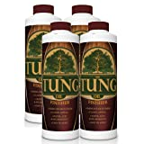 100% Pure Tung Oil Finish Wood Stain & Natural Sealer for All Types of Wood (4 x 32 oz Case) (Tamaño: 4 x 32 oz Case)