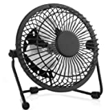 Esup 6 inch Small Fan Desktop USB Fan, Fan Quiet, USB Powered, Personal Table Fan, Mini Desk Fan (6 Inch Black)