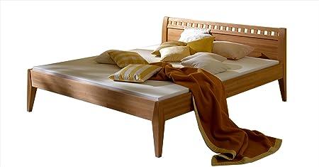 MS-Schuon Bett Lara Natur mit Kopfteil Buche massiv, geölt - Grösse 180x220
