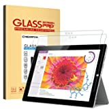 Microsoft Surface 3 Screen Protector 10.8 Inch, Nearpow® Tempered Glass Screen Protector with [9H Hardness] [2.5D Round Edge] [Crystal Clear] [Easy Bubble-Free Installation] [Scratch Resist] (Color: Clear, Tamaño: 12.6 x 9.2 x 0.5 in)