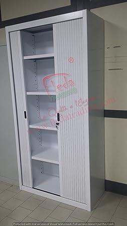 2 Piezas Armario Metalico de Persiana Blanco Dim 80x45x200h cm