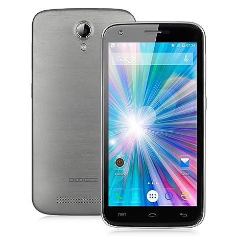 DOOGEE VALENCIA 2 Y100 PRO 4G Smartphone Débloqué 5,0'' IPS OGS HD Ecran Android 5.1 Quad Core MT6735P 2Go RAM 16Go ROM Double SIM Double Caméa 8MP&2MP-HotKnot Smart Wake Compatible avec Orange SFR Free Bouygues-Gris Foncé