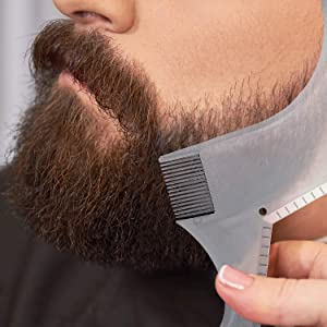 2 Pieces Beard Shaping Styling Tool Beard Shaping Template Guide Combs for Men's Jaw Cheek, Neck Line, Beard Trimming