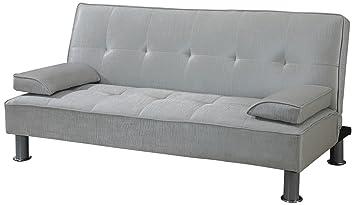 ACME 57068 Korb Adjustable Sofa, Silver PU