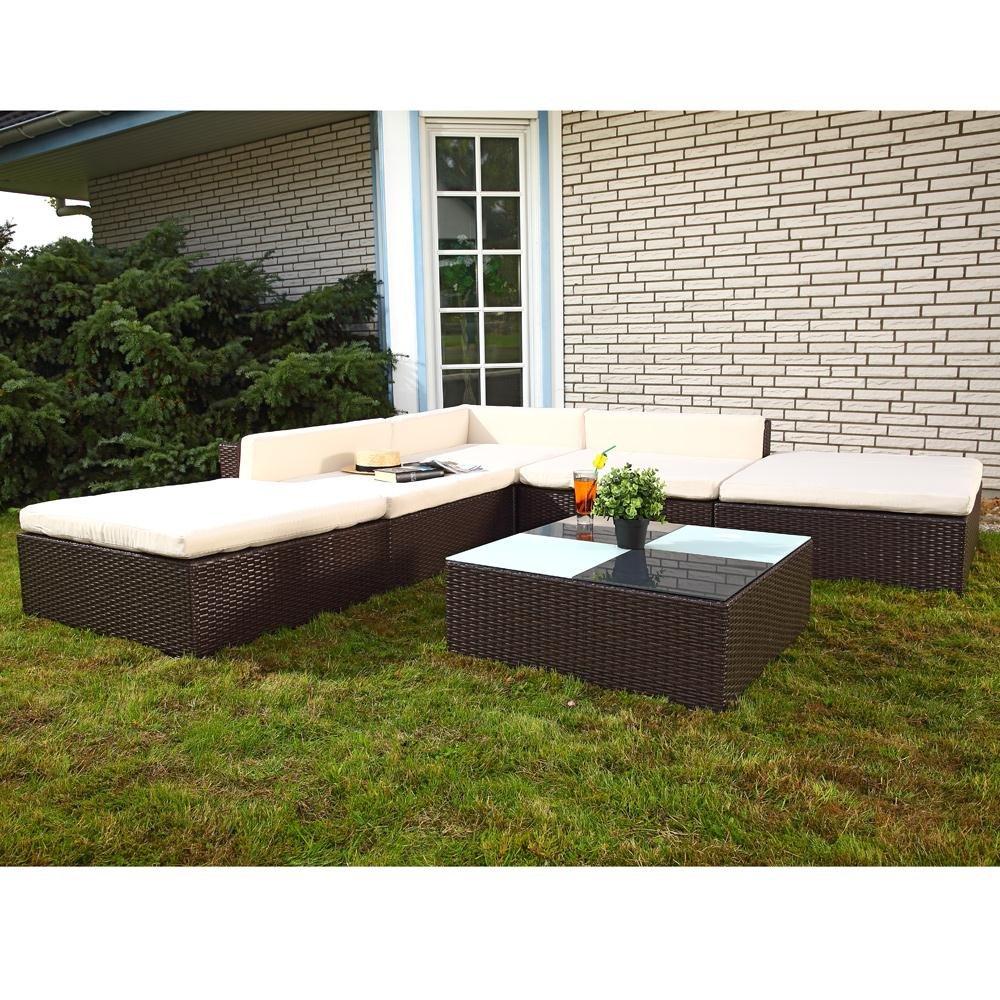 16tlg Gartenmöbel Lounge Polyrattan Sitzgruppe Rattanmöbel Garten Garnitur Braun jetzt bestellen