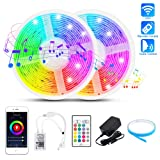 LED Strip Lights 32.8FT, WiFi 5050 RGB 300 LEDs Music Sync Color Changing Rope Tape Lights Outdoor Waterproof Smart Flexible Dimmable LED Strip Light Remote Alexa App Control Indoor for iOS Android (Color: Rgb (Red, Green, Blue), Tamaño: 32.8ft)