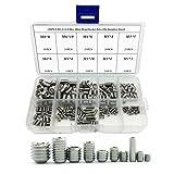 210PCS 304 Stainless Steel Allen Head Socket Hex Grub Screw Assortment Kit (M3 M4 M5 M6 M8)