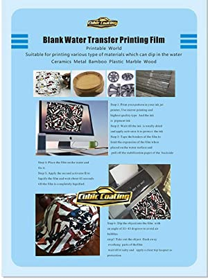 Hydrographics Film - Blank Water Transfer Printing Film - 25 Pcs A4 Size Blank Water Transfer Printing Film - Blank Water Transfer Film