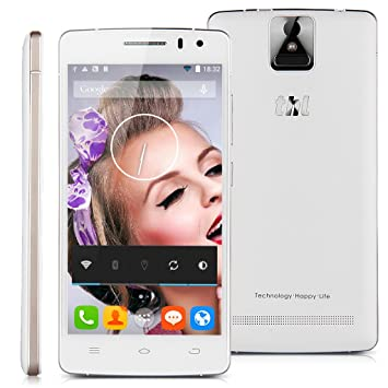 THL 2015 4G Smartphone 5,0 Pouce OGS FHD Ecran MTK6752L Octa-core 1.7GHz 64 bit Dual SIM Android 4.4 avec RAM 2GB ROM 16GB et 13MP caméra support 3G WIFI GPS Bluetooth Portable Sans Forfait (Blanc)