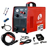 Plasma Cutter, Lotos Supreme CUT60D 60Amp Digital Control CNC Non-Touch Pilot Plasma Cutter with Plasma Gouging Function, Non-HF Blowback Arc Start CNC Plasma Cutter, Metal Cutter (Color: Red)