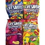 Lifesavers Gummies, Collisions, Wild Berries, Original & Exotics 7oz, 4 Bags (Tamaño: 7 Ounces)