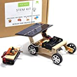 Pica Toys Wooden Solar and Wireless Remote Control Car Robotics Creative Engineering Circuit Science Stem Building Kit - Hybird Power For Electric Motor - DIY Experiment For Kids, Teens and Adults (Color: Wood, Tamaño: Universal)