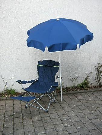 Wellness de Juego de relax silla azul oscuro + Pantalla Azul Oscuro 150cm + 360° universalgelenkh Projector GVC-25& # x20ac;-Protección de goma con tapas-Distribución-