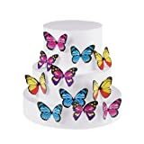 GEORLD Set of 100 Butterfly Cake & Cupcake Toppers Food Decoration 4 Colour